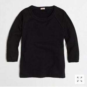 J. Crew black woven sleeve sweatshirt
